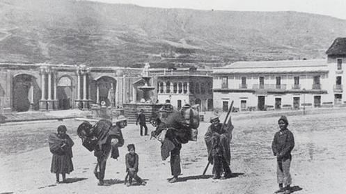 Museo_Nacional_de_Arte,_Catedral_de_La_Paz,_Casa_Diez_de_Medina_y_Fuente_de_Neptuno,_1860