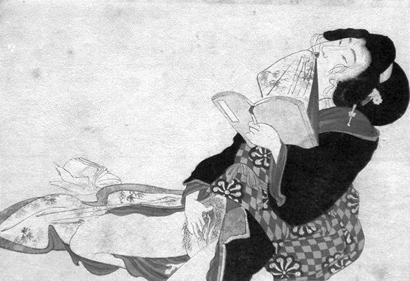 Shunga_woman_reading