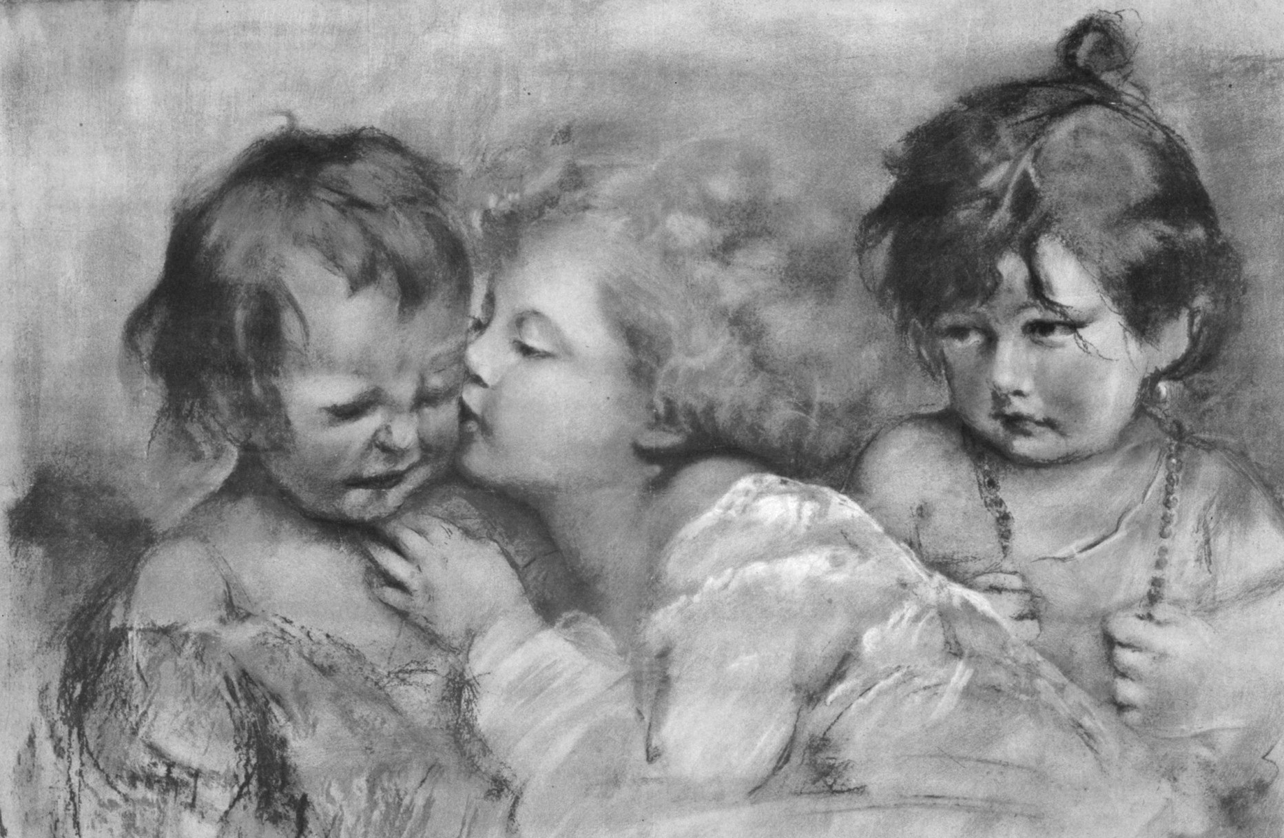vintage-children-drawing